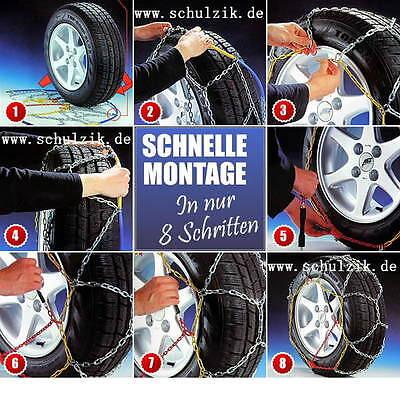 stabile Schneeketten 24545 R 18 PKW SUV zB BMW X3 Transporter mit Ö-Norm - 1312