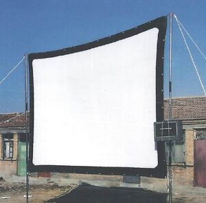 120 in. - 16:9 - Portable Canvas Fabric Projection Screen - Fold