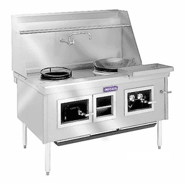 "Imperial Range Icra-4 114"" Chinese Gas Range 4 Burners Water Cooled Top"