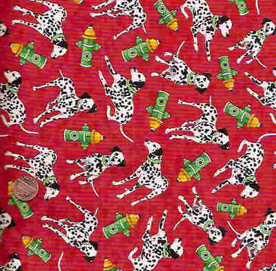 Emergency red dalmation  fire rescue dogs Avlyn fabric