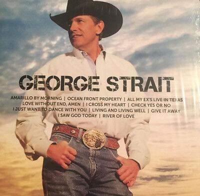 George Strait Icon Best Of 11 Essential Songs Mca Nashville Records New Vinyl Lp