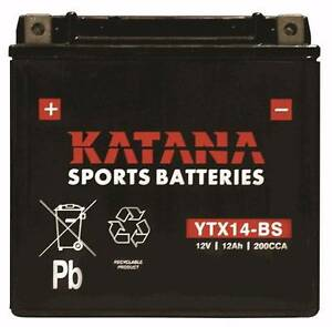KATANA MOTORCYCLE BATTERY YTX14-BS Concord West Canada Bay Area Preview