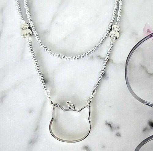 Cat Eyeglass Necklace Loop Lanyard Reading Glasses Chain Swarovski Crystals