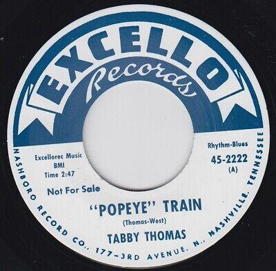 """TABBY THOMAS Popeye Train EXCELLO Re. 7"""" 1962 Steam Hammer R&B Hot Foot Gem HEAR"""