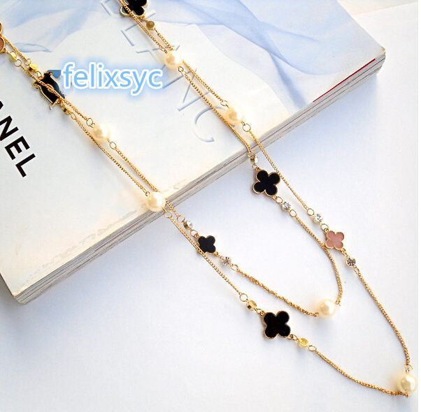 Jewellery - Multi-Layer & Single Long Chain Pearl Bead Womens Charm Necklace Jewellery gifts