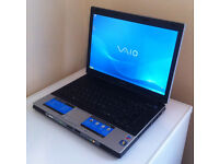 "SONY VAIO VGN-BX196VP 15.4"", 1.73GHz, 2GB, 80GB, DVDRW, OFFICE, ANTI-VIRUS, WINDOWS XP, GOOD BATTERY"