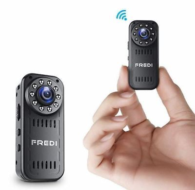 FREDI Hidden Camera 1080p HD Mini WiFi Camera spy Camera with Motion Detection