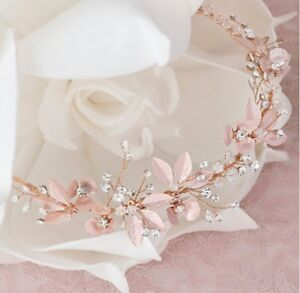 Rose Gold Bridal Headband from Bittersweet