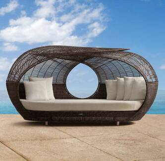 IN STOCK Outdoor Rattan Day Bed Garden Furniture Pool Lounge