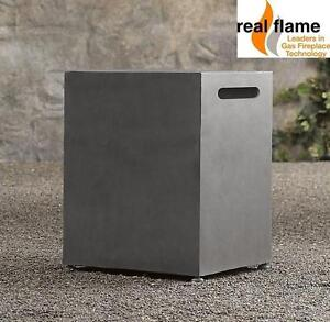 NEW REAL FLAME PROPANE TANK COVER TINDER FIBER CONCRETE AND STEEL - GREY - PATIO FIREPLACES OUTDOOR COVERS 104558778