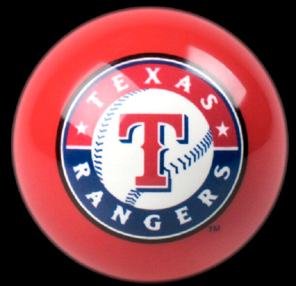 NEW RED TEXAS RANGERS MLB TEAM BILLIARD GAME POOL TABLE REPLACEMENT CUE 8 BALL