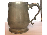 Pewter Tankard, 1pt, Heavy Cornish, Sheffield made. Heavy guage, weight 560gms.