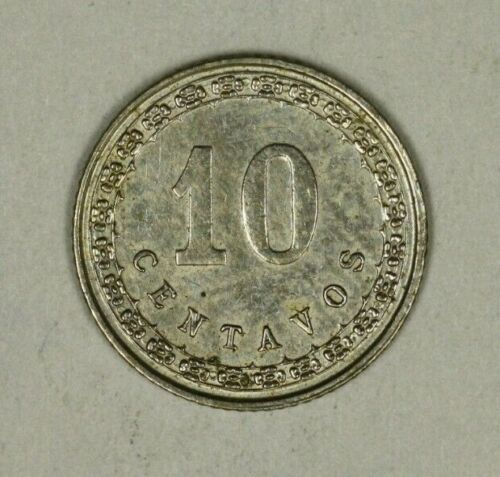 Paraguay 10 Centavos 1908  AU  1 Year Type    A1169
