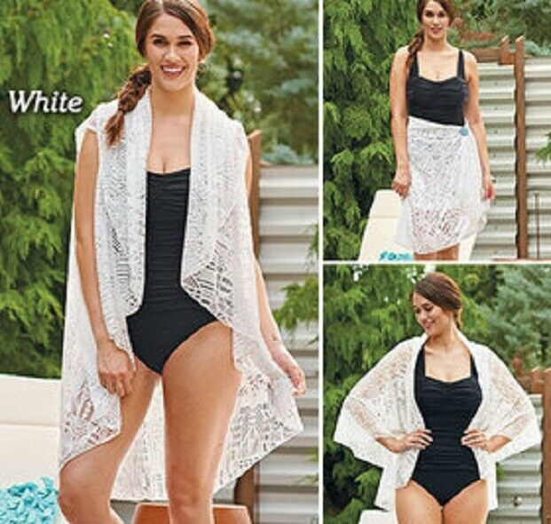Sheer City Swim wrap Beach 64″L x 58″W Casual to Formal Styles Drawstring Pouch Clothing, Shoes & Accessories