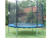 14ft trampoline with saftey enclosure for sale
