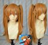 EVA Asuka Soryu Asuka Langley Orange Clip Ponytail Cosplay Wig Hair Q1
