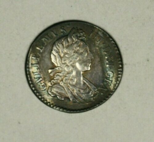 Great Britain Silver 3 Pence 1698   Toned VF+    A1450