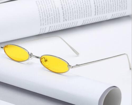 VINTAGE RETRO SMALL OVAL FRAME SUNGLASSES WOMENS SHADES TRENDY TINY GLASSES US