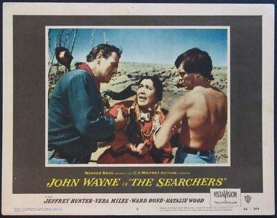 THE SEARCHERS JOHN WAYNE JEFFREY HUNTER 1956 LOBBY CARD #6
