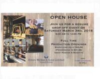 Open House Resume Drop Off Event at Hiram Walker & Sons Ltd