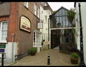 Unit available to rent in a Victorian themed shopping arcade in Arundel