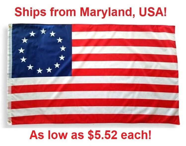 Betsy Ross Flag 3 'x 5' - 13 Stars American Colonial - 3 ft