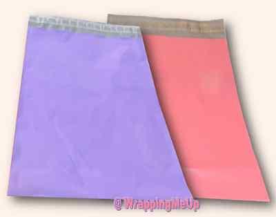 100 Pink Purple 7x10 Flat Poly Postal Mailer Envelopes Self Seal Usps Shipping