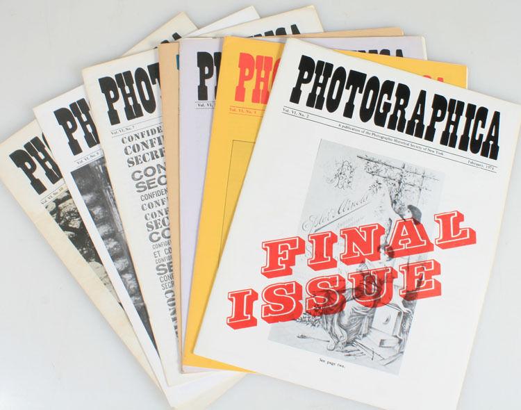 PHOTOGRAPHICA MAGAZINE 1974  VINTAGE, SET OF 7