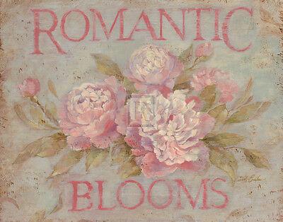 Romantic Blooms Art Poster Print by Debi Coules, 14x11