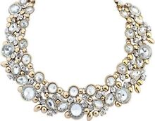 CHEAP NEW clear/white Collar Choker Rhinestone Bexley North Rockdale Area Preview