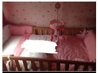 Cot bed furniture set