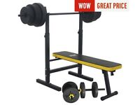 Bench with weights