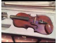Antique violin approx 1900 French full size with 2 bows and brand new case