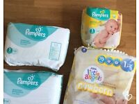 Pampers & Little Angels - SIZE 1 (140+ Nappies)