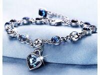 Sterling silver love heart bracelet