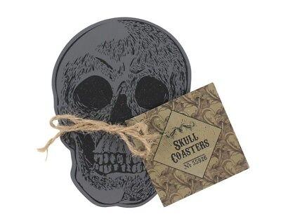 Set De Table Halloween (Set de 4 Crâne Table Boisson Sous-Verre Cadeau Halloween Effrayant)