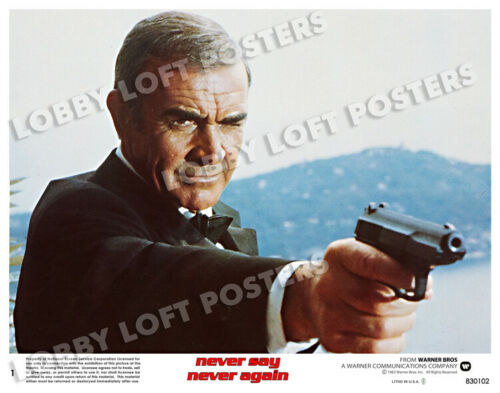 NEVER SAY NEVER AGAIN LOBBY SCENE CARD POSTER # 1 1983 JAMES BOND SEAN CONNERY