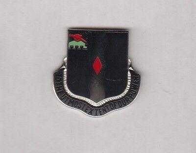 USA 60th INFANTRY REGIMENT LRRP RANGER crest DUI badge CB Clutchback D-22
