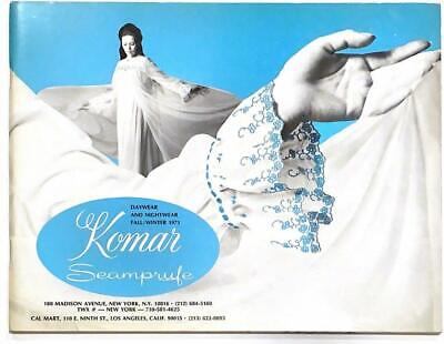 Rare 1971 Komar Seamprufe Lingerie Salesman Catalog Gowns Slips Panties Sexy