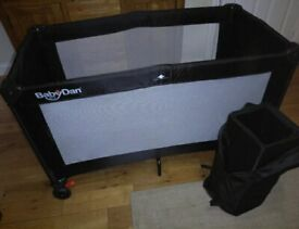 BabyDan Portable Baby/Toddler Travel Cot Bed/Playpen - Never Used