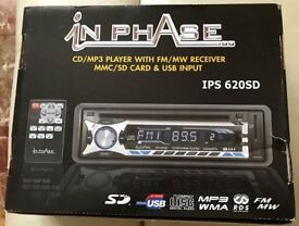 InPhase ISP 620SD stereo - CD/MP3 player with FM/MW radio, MMC/SD card & USB input