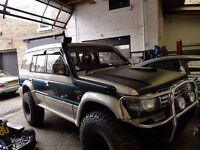 mitsubishi pajero 4x4 NOT shogun 2.5td lwb OFF ROAD READY motd 7 seater MONSTER TRUCK, ONLY 3 OWNER