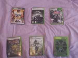 6 XBOX 360 Games in excellent condition - Get them all for 70$