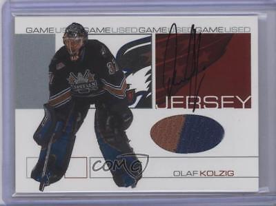 2001-02 ITG Be A Player Signature Series Game-Used Jersey /10 Olaf Kolzig -