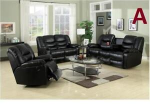 Black Friday Sale!! Is On Now  BRAND NEW LEATHER 5 RECLINERS SOFA,LOVE-SEAT & CHAIR $1499