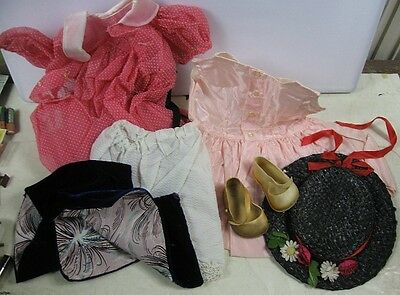 "Lot of Vintage 1960's 27"" J Cey Large Doll Clothes Clothes Only"
