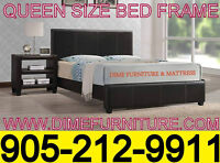 WE PAY THE TAX EVENT!! BONDED LEATHER BED FRAME