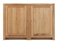 1 Door Corner Cabinet with 2 shelves (SOK-008)