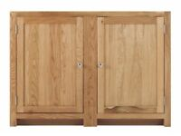 1 Door Corner Cabinet with 2 shelves (SOK-008)