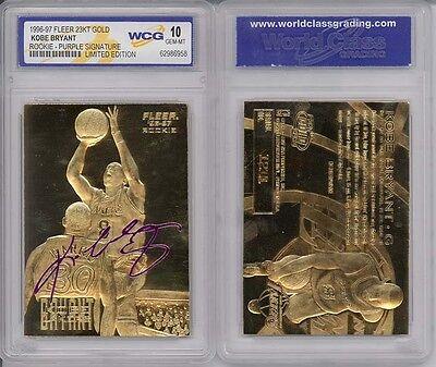 1996-97 KOBE BRYANT FLEER 23K GOLD ROOKIE CARD (Signature Edition) - GEM MINT 10